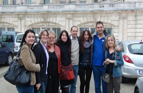 Gruppenfoto einiger Comeniuslehrer in Bucharest.