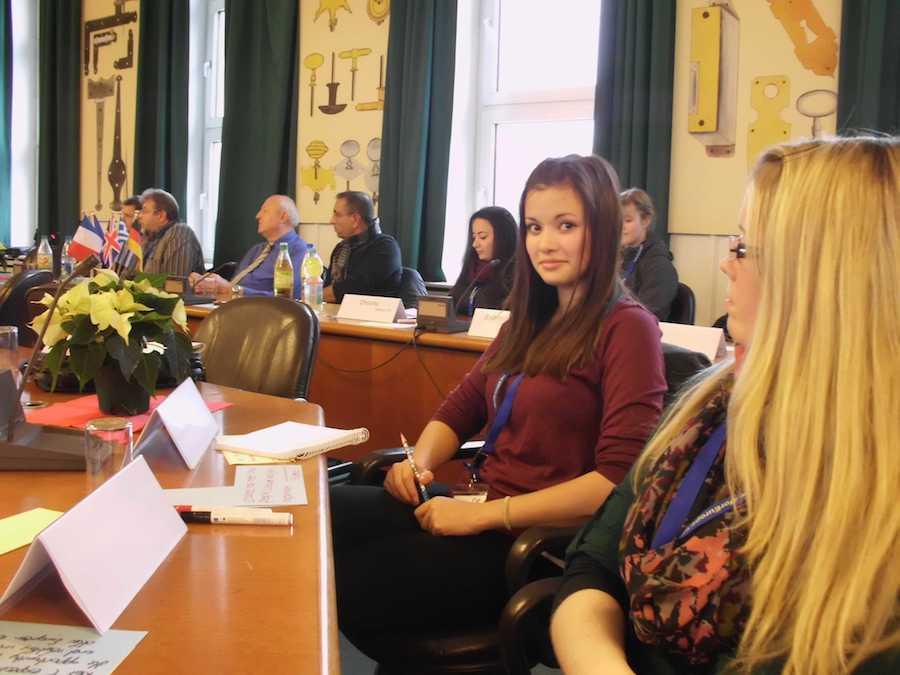 Begrüßung im Sitzungssaal