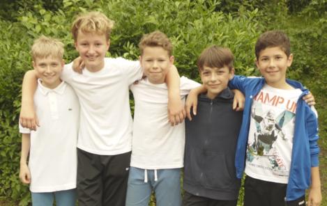 Jungen c1: Christian, Denis, Max, Niklas, Simon