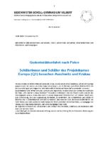 Schulbrief 52 Gedenkstättenfahrt nach Krakau