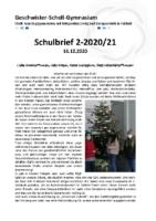 Schulbrief Dezember 2020 Stand 15.12.